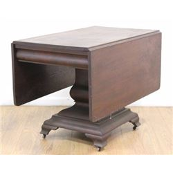 Empire Style Mahogany Drop-Leaf Table