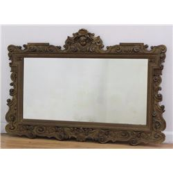 Carved Wood & Gesso Mirror