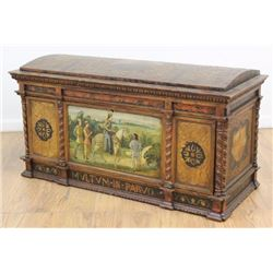 Renaissance Style Gilt & Polychromed Chest