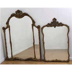 2 Rococo Style Giltwood Mirrors