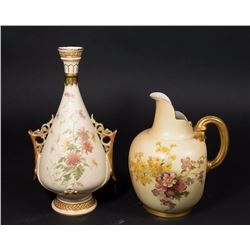 Royal Worcester Ewer & Vase