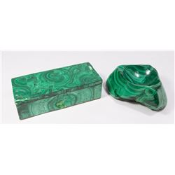 Malachite Box & Ashtray