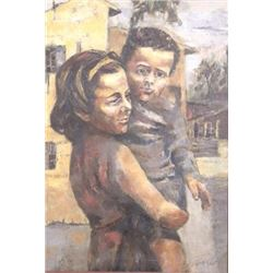 :Moshe Gat, Two Children
