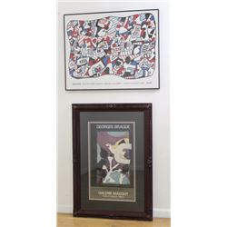 Jean Dubuffet & Georges Braque, 2 Posters