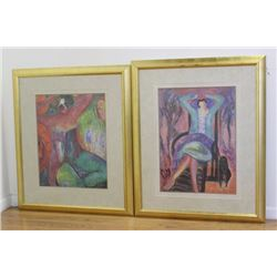 Barbara M. Wood, 2 Colored Prints