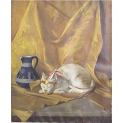 L.M. Graham, Still Life with Cat