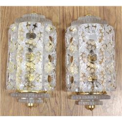 Pair Lalique Seville Sconces