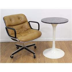 Herman Miller Desk Chair & Knoll Style Side Table