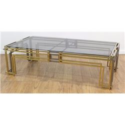 Pierre Cardin Style Brass & Chrome Coffee Table