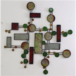 Modern Paint Decorated Metal Wall Sculpture