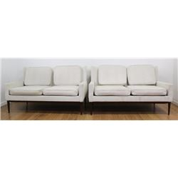 Pair Paul McCobb Walnut Couches