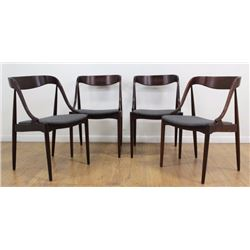 Set 4 Johannes Andersen Bentwood Dining Chairs