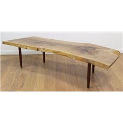George Nakashima Turned Leg Coffee Table