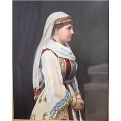 Orientalist Portrait of Young Woman