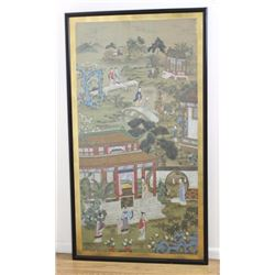 Chinese Watercolor Framed on Rice Paper