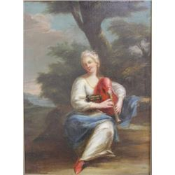 Classical Woman Playing Bagpipes