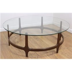 Adrian Pearsall Style Walnut Coffee Table
