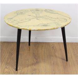 Fornasetti Style Lacquer Side Table