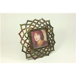 Jay Strongwater Enamel & Jeweled Open Weave Frame