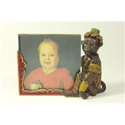 Jay Strongwater Enamel & Jeweled Monkey Frame