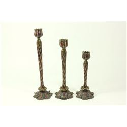 Jay Strongwater Enamel & Jeweled Candlesticks