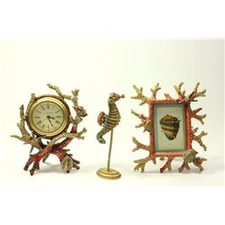 Jay Strongwater Coral Reef Frame & Clock