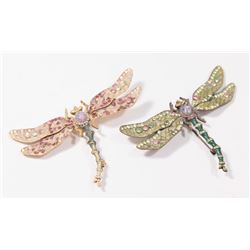 2 Jay Strongwater Dragonfly Brooches