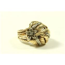 Vintage 14K Gold & Diamond Ladies Ring