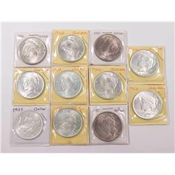 Lot 11 Silver Peach Dollars