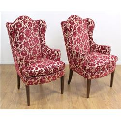 Pair Wingback Chairs
