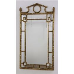 Giltwood Faux Bamboo Mirror