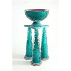 """Molly Stone """"Diamond Glass"""" Table Crater"""