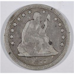 1877-CC SEATED QUARTER