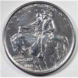 1925 STONE MOUNTAIN COMMEM HALF DOLLAR, CH/GEM BU