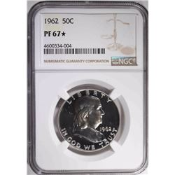 1962 FRANKLIN HALF DOLLAR, NGC PF-67*