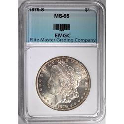 1879-S MORGAN DOLLAR, EMGC GEM BU