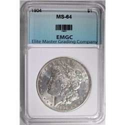 1904 MORGAN DOLLAR, EMGC  CH/GEM BU