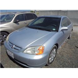 HONDA CIVIC 2002 APP  DUP/T-DON