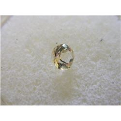 GEMSTONE - ROUND FACETED BRIGHT YELLOW CITRINE - 5.8 X 4.0 mm