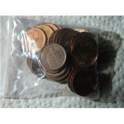 PENNIES - BAG - CENTENIAL - 1952-2002 - 92.9gm