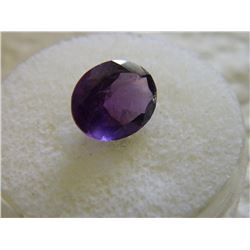 GEMSTONE - OVAL FACETED RICH PURPLE AMETHYST 11.8 X 9.8 X 6.1 mm