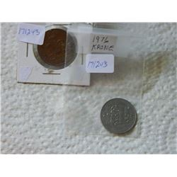 COLLECTOR COINS - 2 PENCE (1993), KRONE (1976)