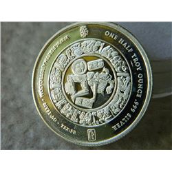 SILVER ROUND - 1/2 OUNCE .999 FINE SILVER - FIRST MAJESTIC MINT - AZTEC / AYAN DESIGN