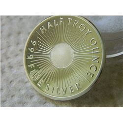 SILVER ROUND - 1/2 OUNCE .999 FINE SILVER - SUNSHINE MINT