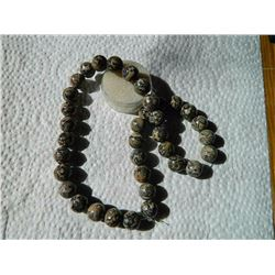ROUND AGATE BEADS - BROWN / BLACK - 36 PC - 12MM DIAMETER