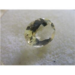 GEMSTONE - OVAL FACETED LIGHT YELLOW CITRINE 11.1 X 9.0 X 5.1 mm
