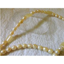 "EYE GLASS CHAIN - GENUINE NATURAL GEMSTONES &/OR FRESH WATER PEARLS - EACH  APPROX 23"" LONG"