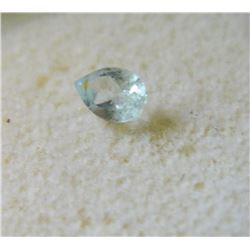 GEM STONE - PEAR FACETETED BLUE TOPAZ 6.0L X 4.2W X 3.1H mm - ~CT