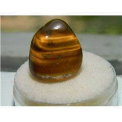 GEM STONE - EXTRA LARGE FREE FORM AND POLISHED TIGERS EYE - 18.7L X 15.9W X 17.6H mm - ~1.63CT