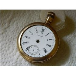 VINTAGE POCKET WATCH - GOLD FILLED FORTUNE 740329 - 17 JEWELS - NO HANDS OR FRONT GLASS